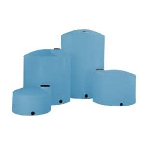 5000 Gallon Blue HD Vertical Plastic Storage Tank