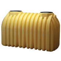 1250 Gallon Plastic Septic Tank - 2 Compartment