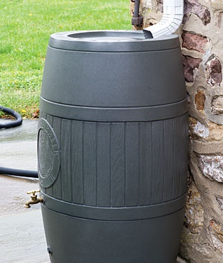 54 Gallon Poly-Mart RainSaver Rain Barrel