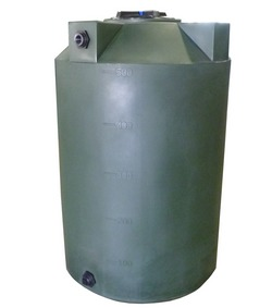 500 Gallon Poly-Mart Plastic Water Storage Tank