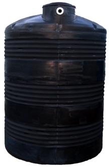 1500 Gallon Black Plastic Water Storage Tank