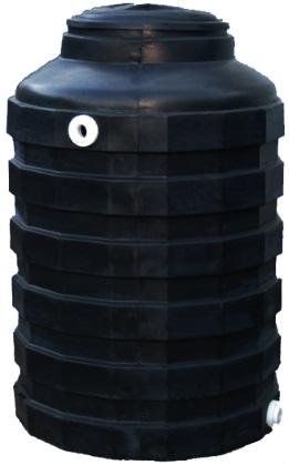 175 Gallon Black Plastic Water Storage Tank