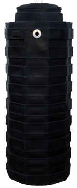 200 Gallon Black Plastic Water Storage Tank