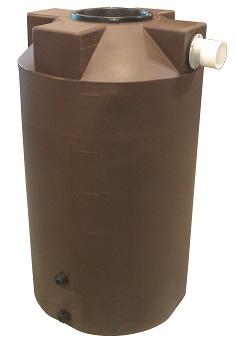 250 Gallon Dark Brown Rain Harvest Tank