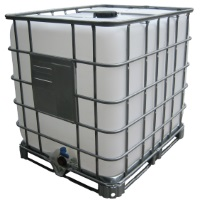 330 Gallon Caged Plastic Tank Ibc Tote