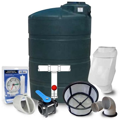 "305 Gallon CA Green Rainharvesting 3"" Kit"
