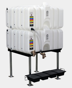Rhino Tuff Tanks 80/80 Complete Gravity Feed System