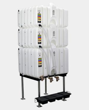 Rhino Tuff Tanks 80/80/120 Gravity Feed System