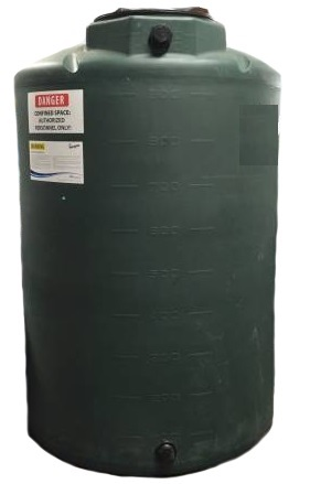 1000 Gallon Water Storage Tank (Green Tanks Ships Within 7 Days)