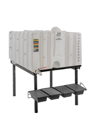 120 Gal Cubetainer Gravity Feed System with Brass Inserts