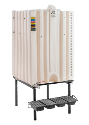 260 Gal Cubetainer Gravity Feed System with Brass Inserts