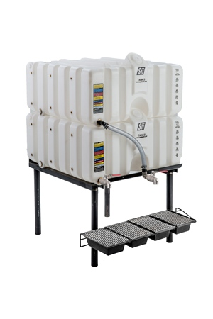 80/80 Gal Cubetainer Gravity Feed System with Brass Inserts
