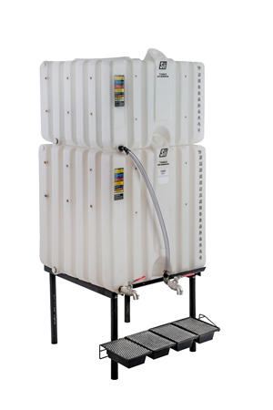 120/180 Gal Cubetainer Gravity Feed System with Brass Inserts