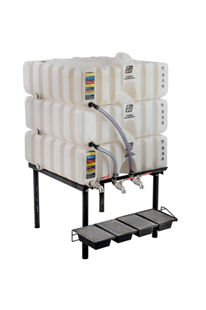 60/60/60 Gal Cubetainer Gravity Feed System with Brass Inserts