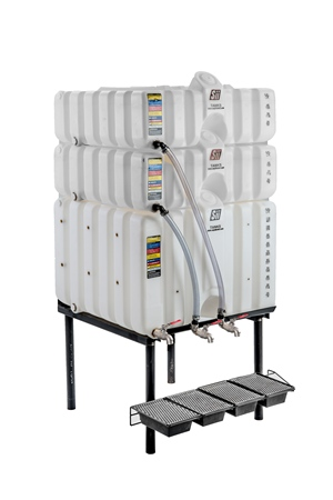 60/60/120 Gal Cubetainer Gravity Feed System with Brass Inserts