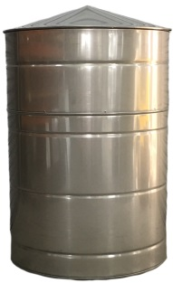 140 Gallon Stainless Steel Rain Water Tank