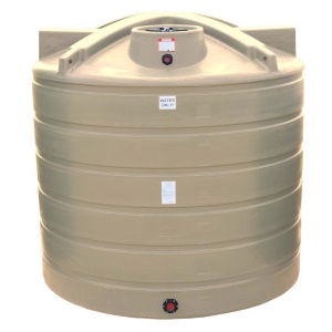 5050 Gallon Beige Plastic Water Storage Tank