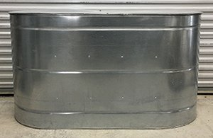233 Gallon Galvanized Slimline Rainwater Tank