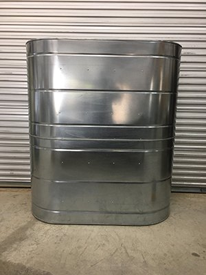 467 Gallon Galvanized Slimline Rainwater Tank