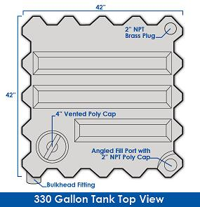 330 Gallon Tote-A-Lube / Fluidall Lube Oil Tank System (1 Tank)