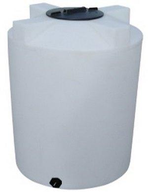"""300 Gallon Valor Plastics Vertical Liquid Storage Tank 46"""" dia"""