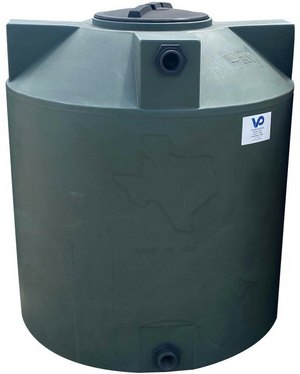 "300 Gallon Valor Plastics Vertical Water Tank 35"" dia"