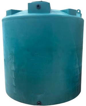 "1000 Gallon Valor Plastics Vertical Water Tank 64"" dia"