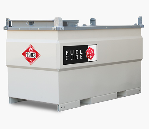 FuelCube Double Walled Stationary Steel Fuel Tank - 528 Gallons